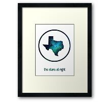 The Stars at Night - Deep in the Heart of Texas Framed Print