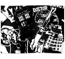 Dr Who Silhouettes Poster