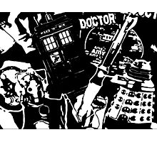 Dr Who Silhouettes Photographic Print