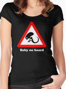Baby on board Women's Fitted Scoop T-Shirt