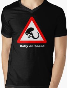Baby on board Mens V-Neck T-Shirt