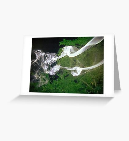 Silly Swirling Smoke Greeting Card
