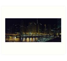 A View of the Chicago River Art Print