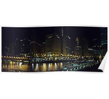 A View of the Chicago River Poster