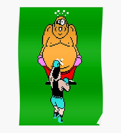 Punch Out King Hippo Poster