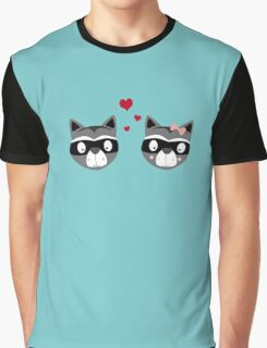 Racoons in love Graphic T-Shirt