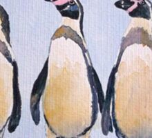 Three Perky Penguins Sticker