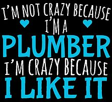 I'M NOT CRAZY BECAUSE I'M A PLUMBER I'M CRAZY BECAUSE I LIKE IT by yuantees
