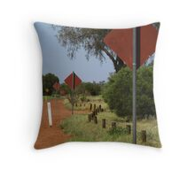 Uluru - On the road around its base Throw Pillow