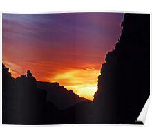 Desert Mountain Sunset Poster
