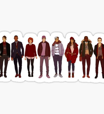 winter fashions Sticker