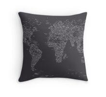 World Map of Cities Throw Pillow