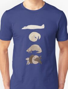 Chart of ferret sleep positions Unisex T-Shirt