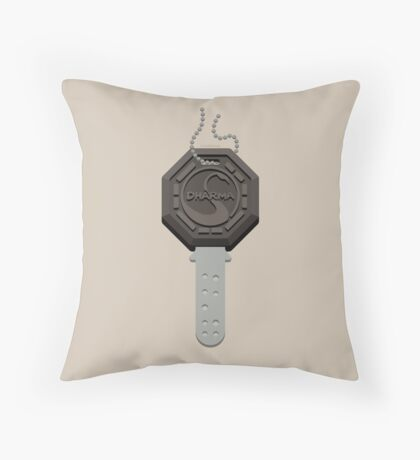 Lost - Dharma Key Throw Pillow