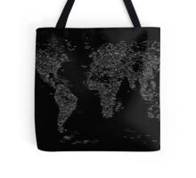 World Map of Cities Tote Bag
