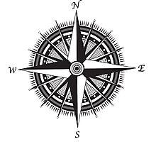 Compass Rose Photographic Print