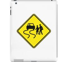 Swerve Ahead - Plain - White iPad Case iPad Case/Skin