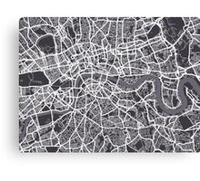 London England Street Map Art Canvas Print