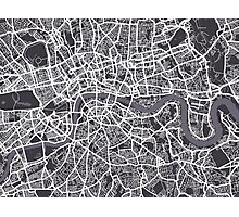London England Street Map Art Photographic Print
