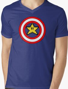 Captain Mario Mens V-Neck T-Shirt