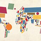World Map Abstract by ArtPrints