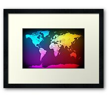 Abstract Map of the World Framed Print