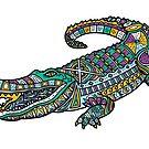 ornate crocodile by BoYusya
