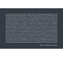 Pi to 2,198 decimal places Photographic Print
