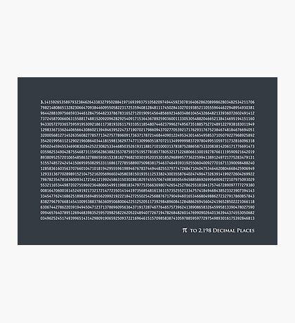 Pi to 2,198 decimal places Photographic Print