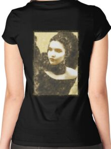 [sky cries] mary Women's Fitted Scoop T-Shirt