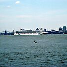 Norweigan Cruise Line on the Hudson by Jane Neill-Hancock