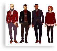 winter fashions caws crew Canvas Print