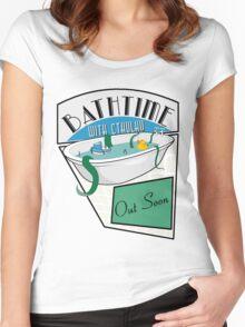 BathTime With Cthuhlu Women's Fitted Scoop T-Shirt