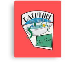 BathTime With Cthuhlu Canvas Print