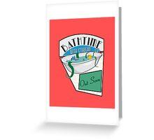 BathTime With Cthuhlu Greeting Card