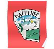 BathTime With Cthuhlu Poster