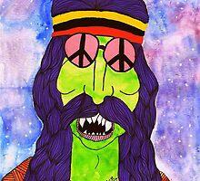 Herschel the zombie hippie by ClippityClopArt