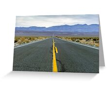 Highway 190 Death Valley California  Greeting Card