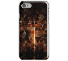 Gold beam in geometric sparkly universe iPhone Case/Skin