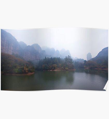 landscape in rain Poster