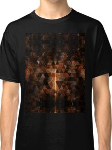 Gold beam in geometric sparkly universe Classic T-Shirt