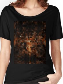 Gold beam in geometric sparkly universe Women's Relaxed Fit T-Shirt