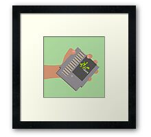 Vsauce outro NES cartridge Framed Print