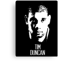 Tim Duncan Canvas Print