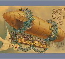 Vintage Bonne Anne Blimp Greetings by Yesteryears