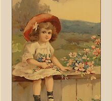 Vintage Girl Congratulations Greetings by Yesteryears