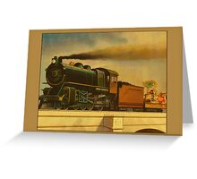 Vintage Coal Train Greetings Greeting Card