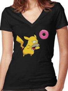 Homer-chu Women's Fitted V-Neck T-Shirt