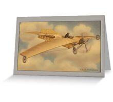 Vintage REP Monoplane Greetings Greeting Card