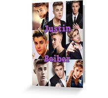 Justin Beiber~ Greeting Card